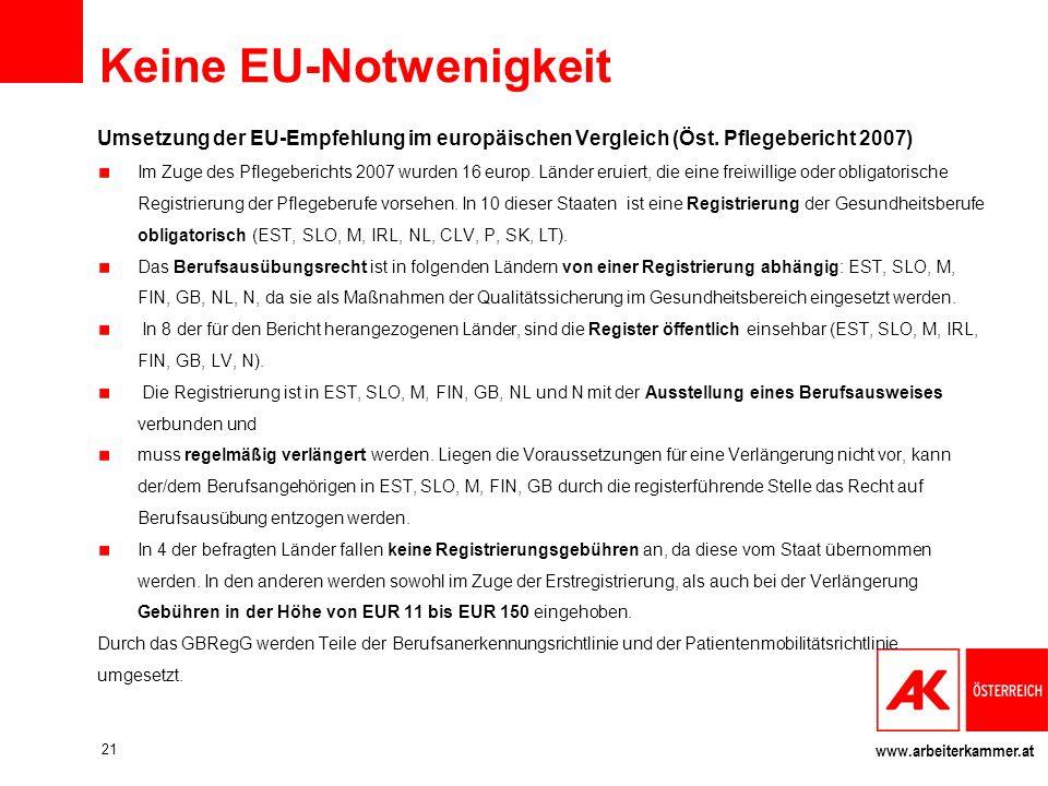 Keine EU-Notwenigkeit