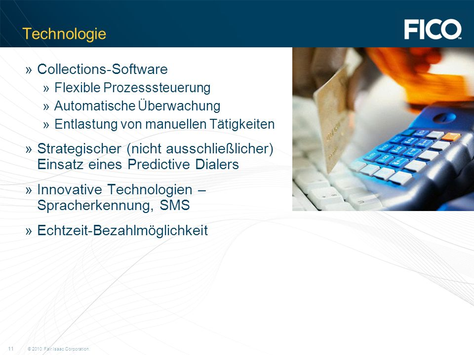 Technologie Collections-Software