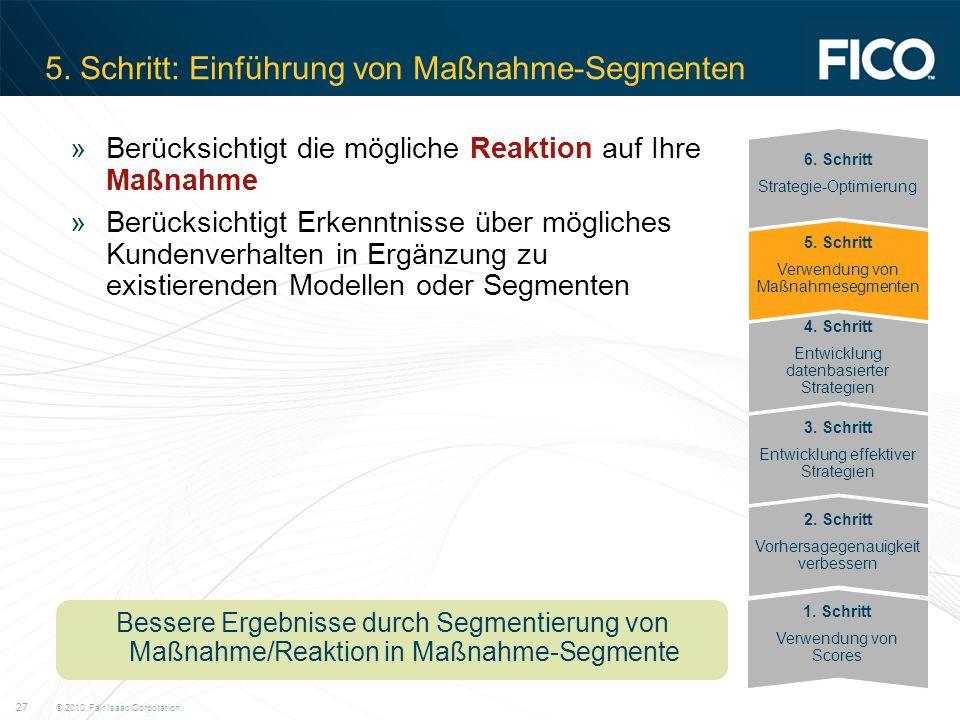 5. Schritt: Einführung von Maßnahme-Segmenten