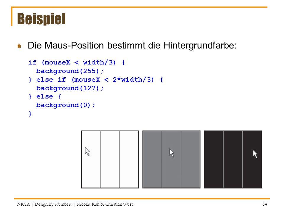 Beispiel Die Maus-Position bestimmt die Hintergrundfarbe: