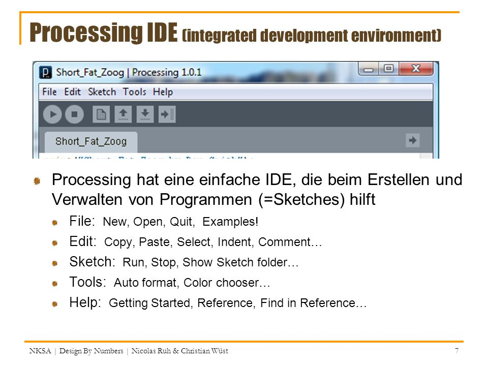 Processing IDE (integrated development environment)