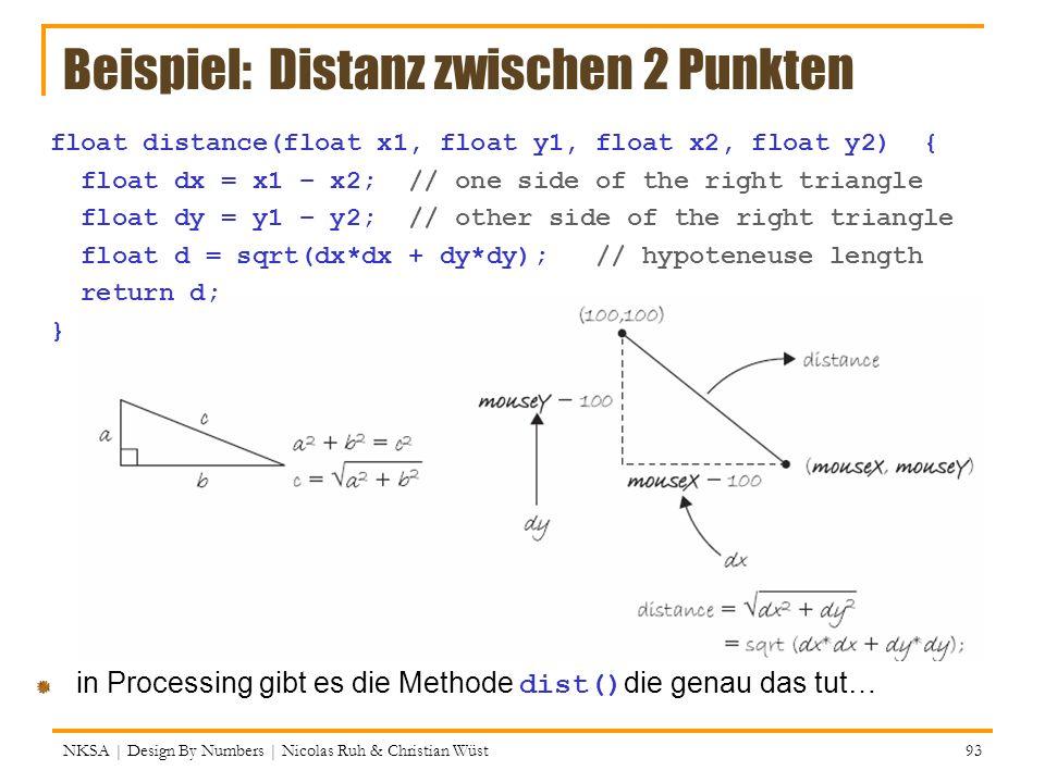 Beispiel: Distanz zwischen 2 Punkten
