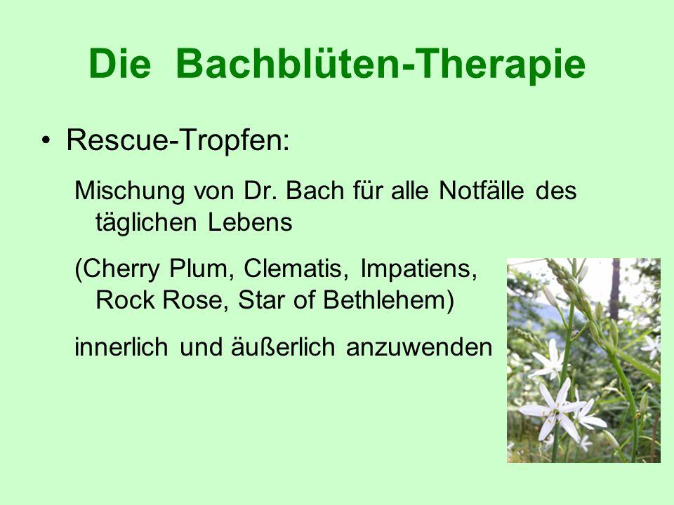Die Bachblüten-Therapie