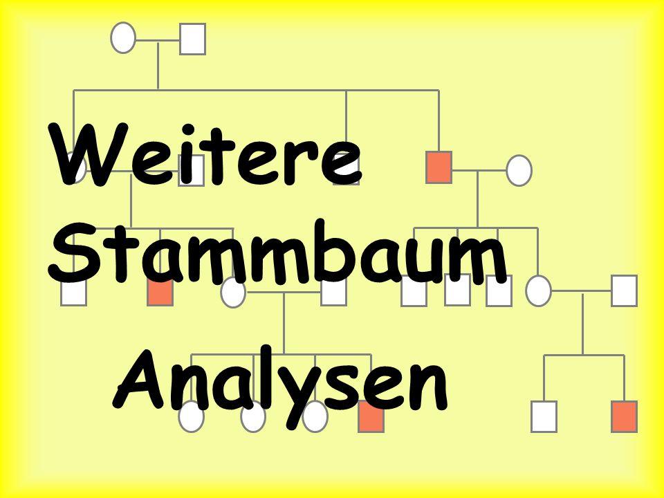 Weitere Stammbaum Analysen