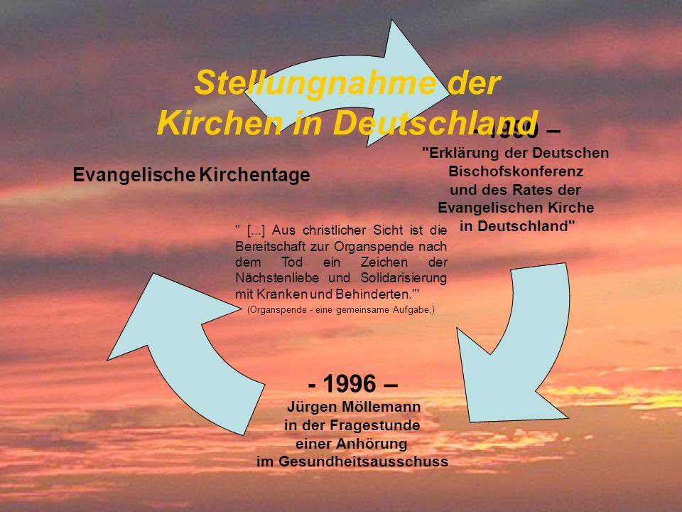 Stellungnahme der Kirchen in Deutschland
