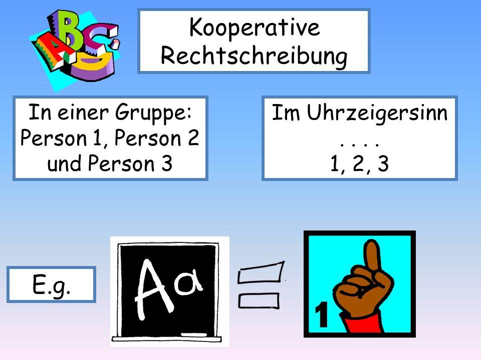 Kooperative Rechtschreibung