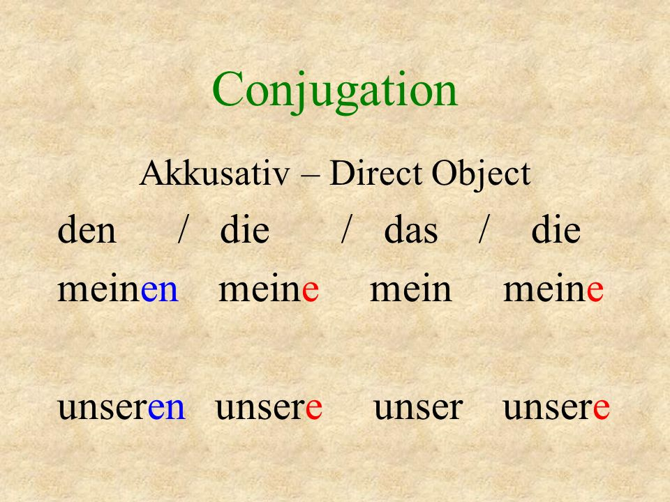 Akkusativ – Direct Object
