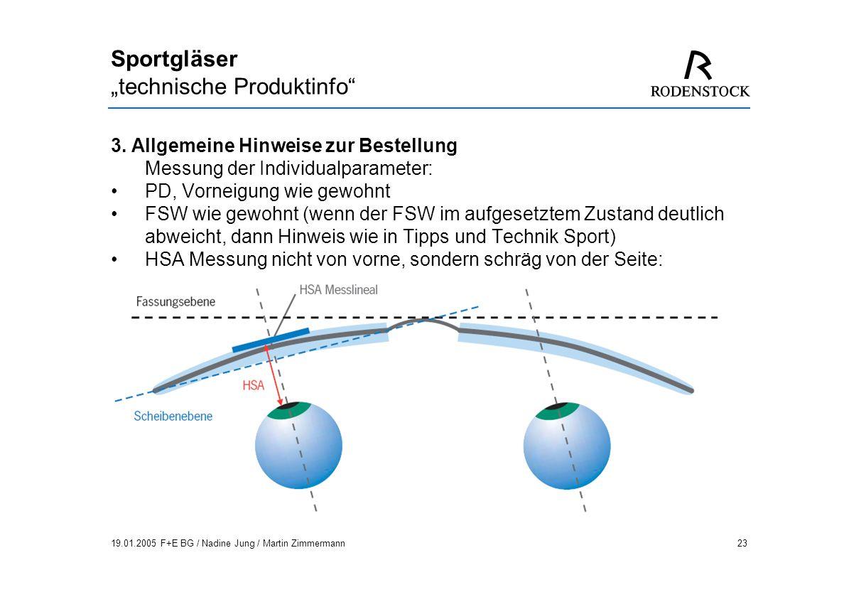 "Sportgläser ""technische Produktinfo"