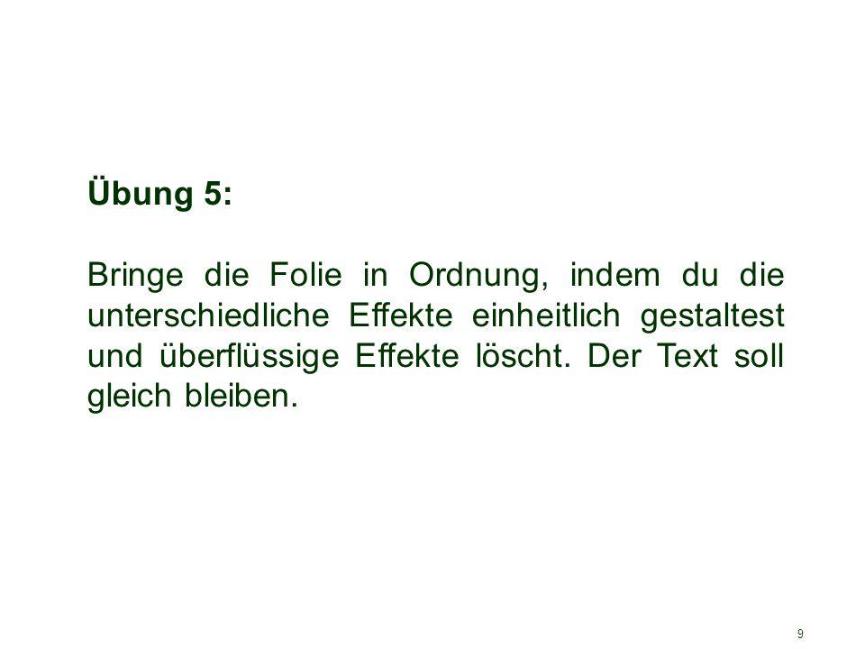 Übung 5: