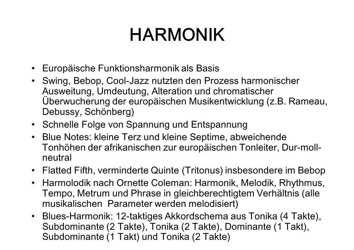 HARMONIK Europäische Funktionsharmonik als Basis