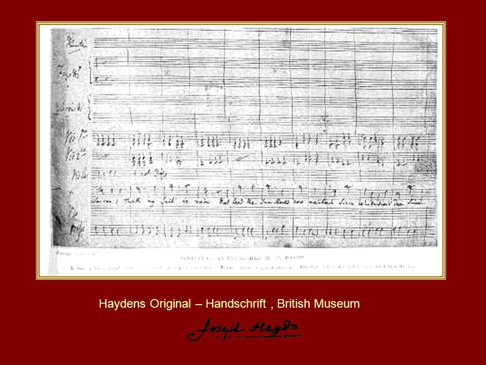 Haydens Original – Handschrift , British Museum