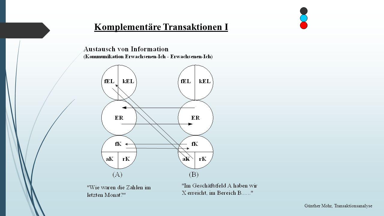 Komplementäre Transaktionen I