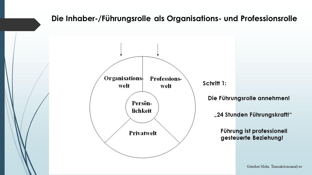 Die Inhaber-/Führungsrolle als Organisations- und Professionsrolle