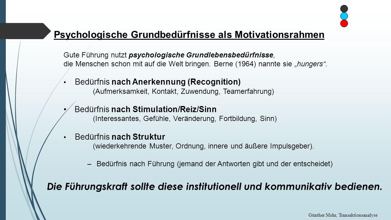 Psychologische Grundbedürfnisse als Motivationsrahmen