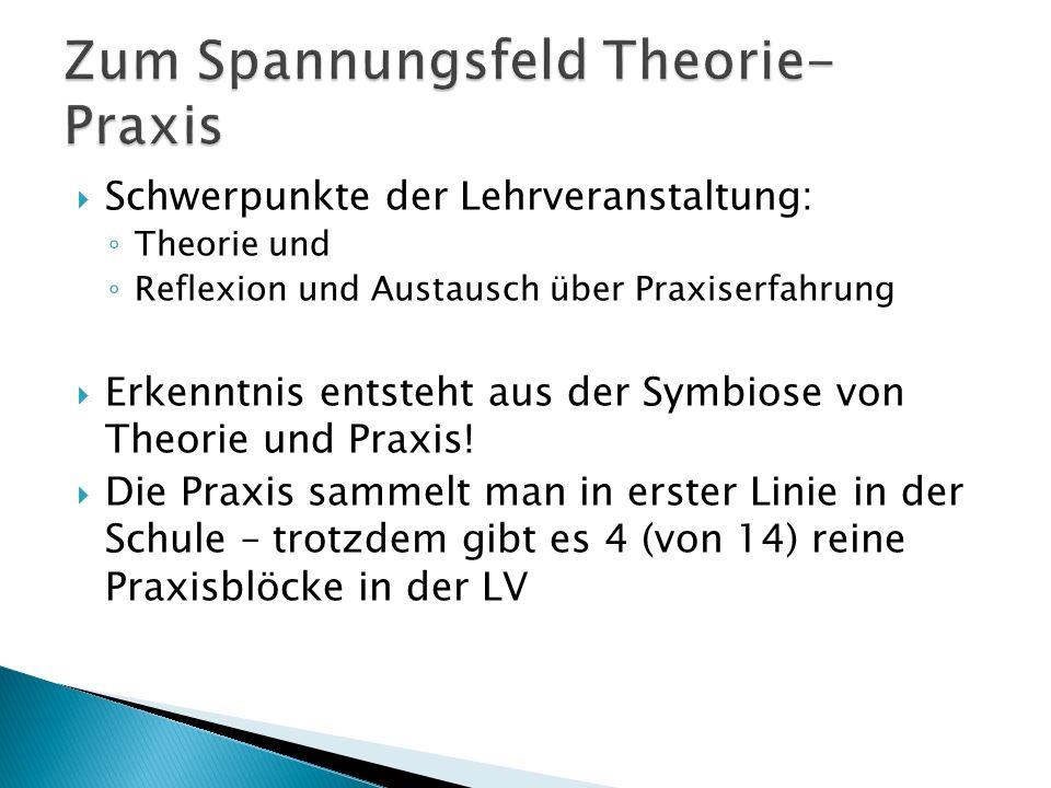 Zum Spannungsfeld Theorie-Praxis