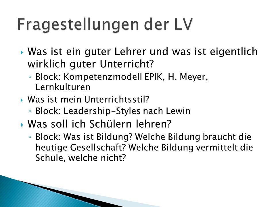 Fragestellungen der LV