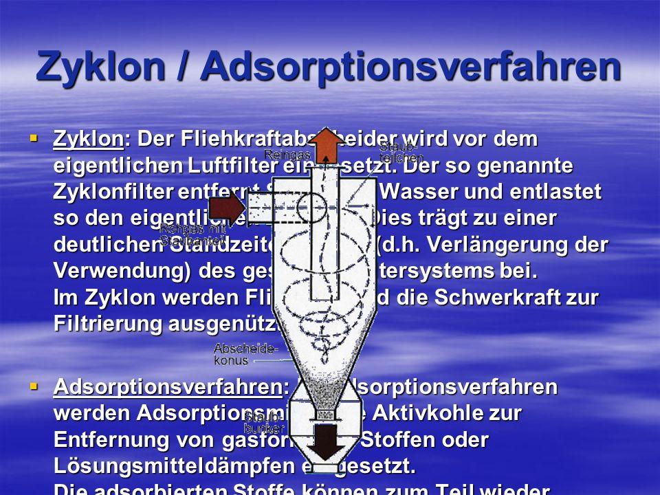 Zyklon / Adsorptionsverfahren