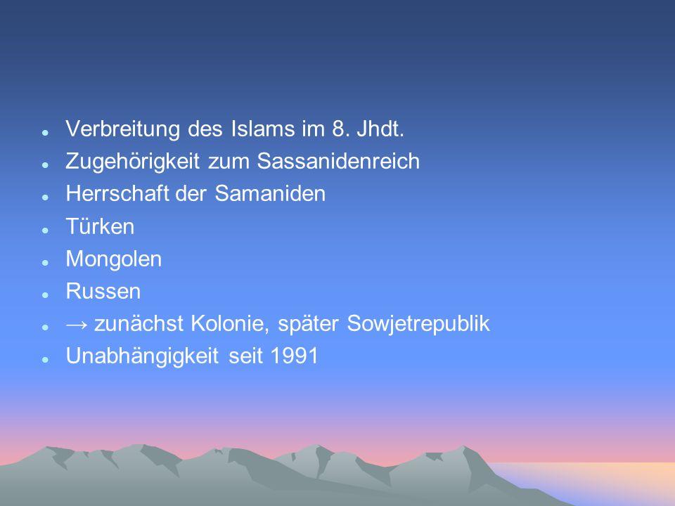 Verbreitung des Islams im 8. Jhdt.