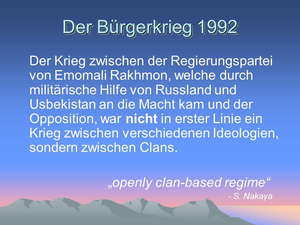 Der Bürgerkrieg 1992