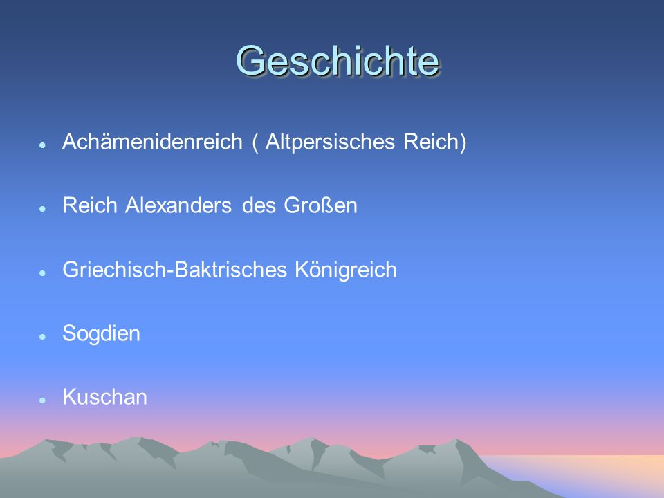 Geschichte Achämenidenreich ( Altpersisches Reich)