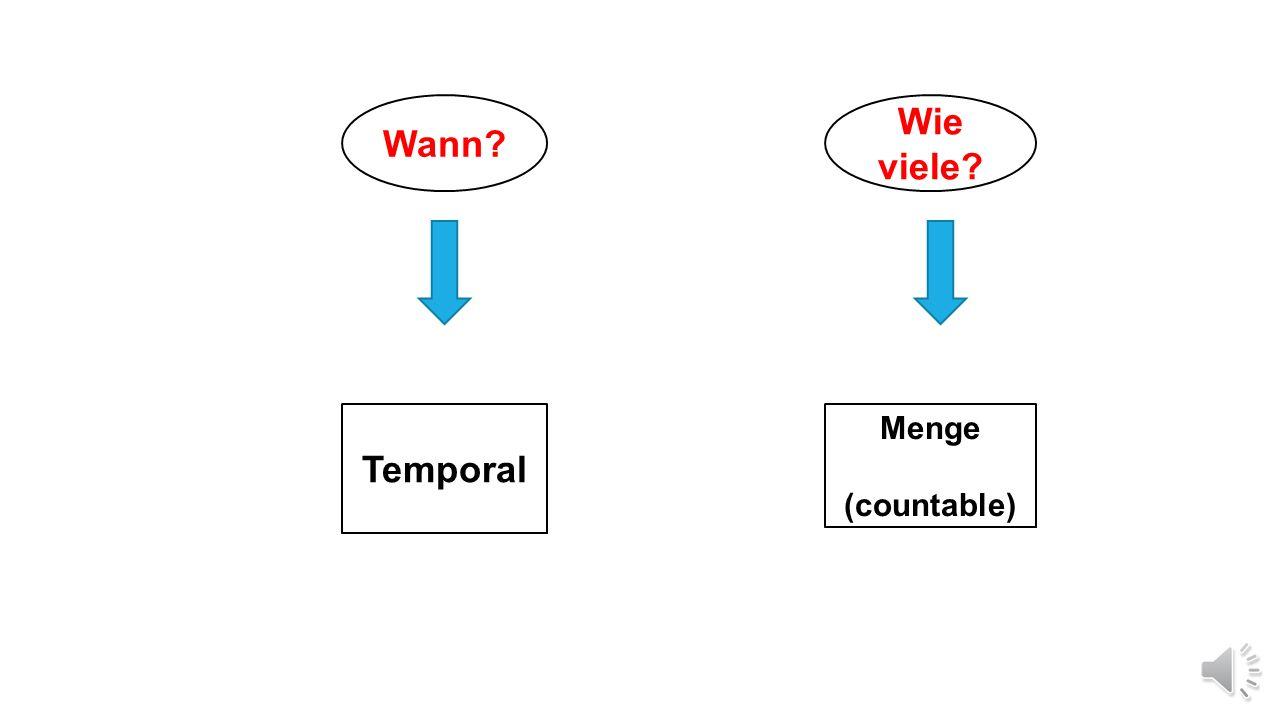 Wann Wie viele Temporal