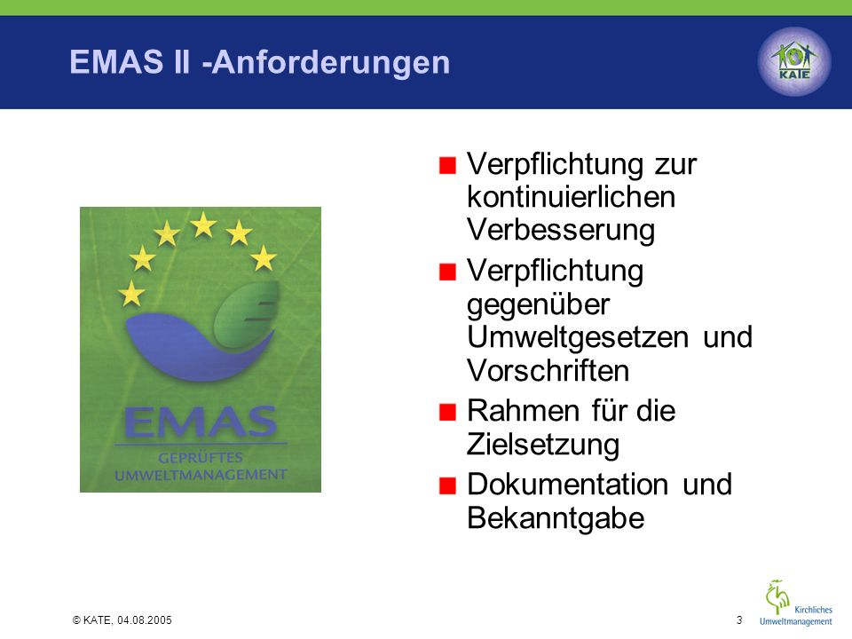 EMAS II -Anforderungen