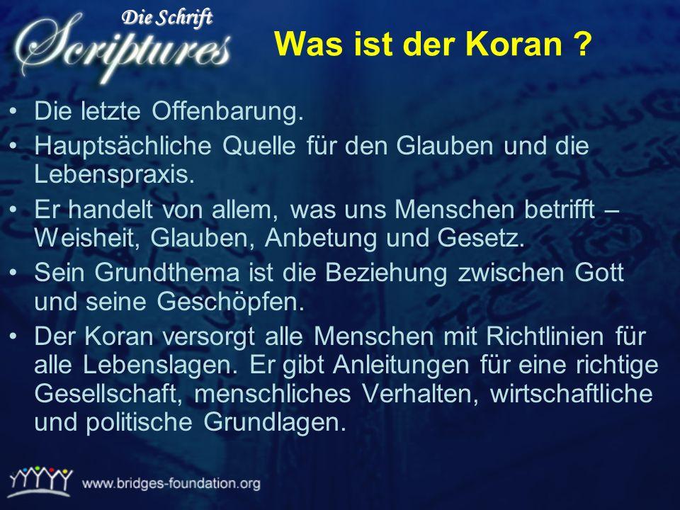 Was ist der Koran Die letzte Offenbarung.