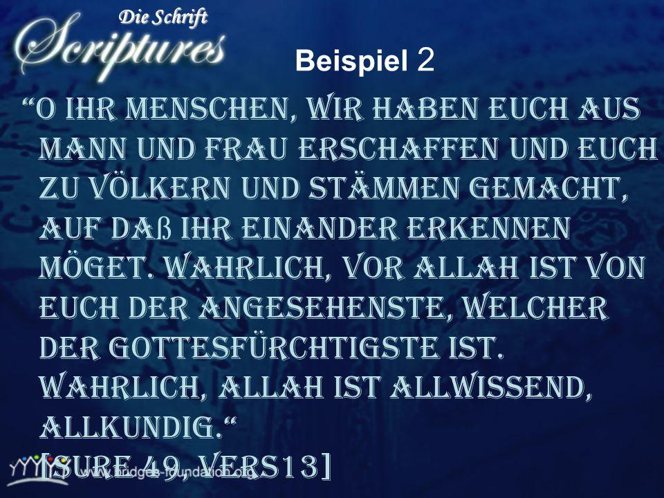 Die Schrift Beispiel 2.