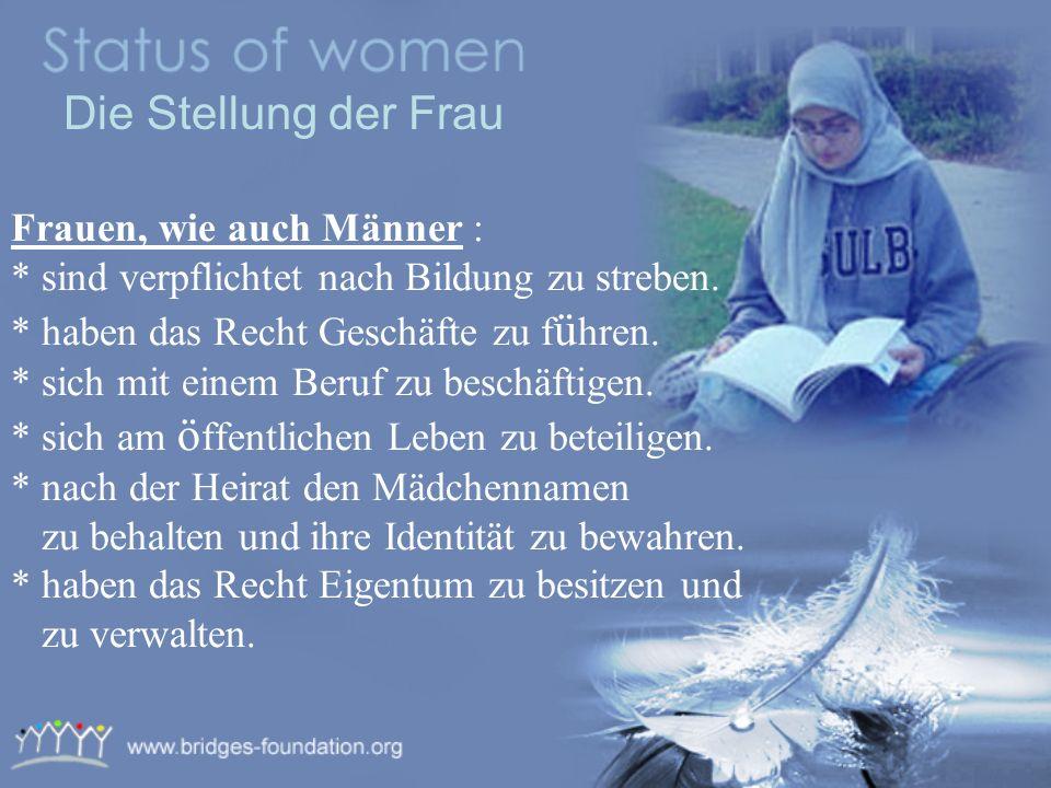 Die Stellung der Frau