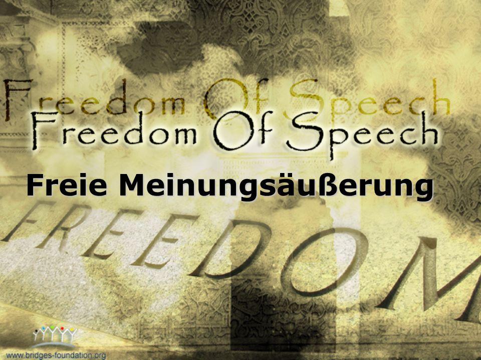 Freie Meinungsäußerung