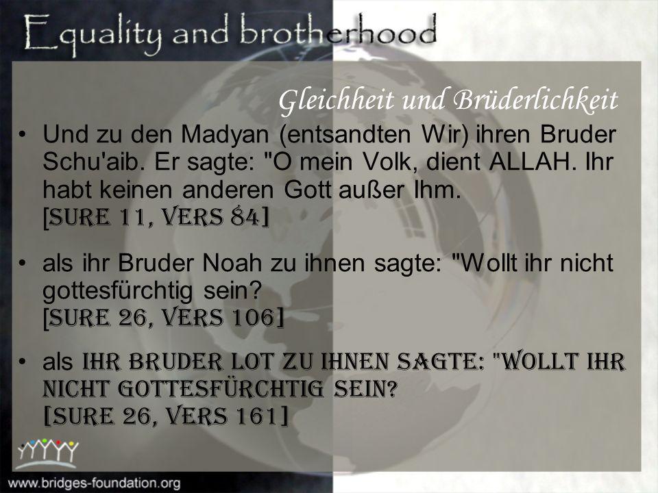 Gleichheit und Brüderlichkeit