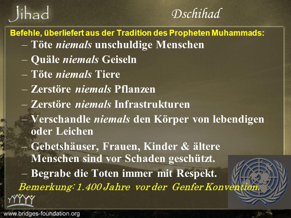 Befehle, überliefert aus der Tradition des Propheten Muhammads: