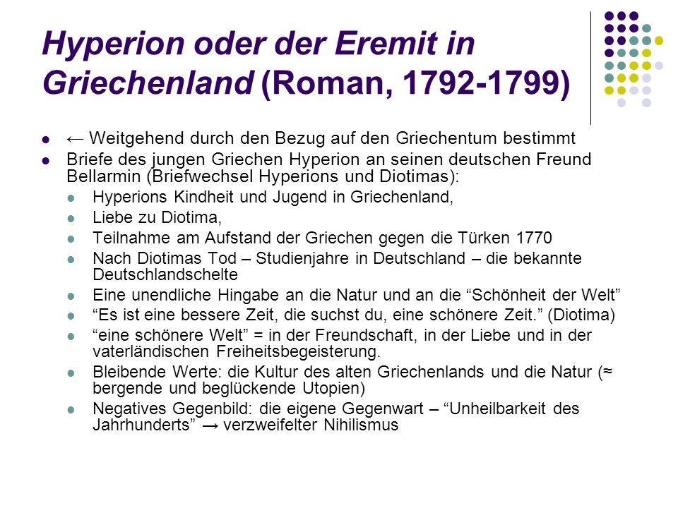 Hyperion oder der Eremit in Griechenland (Roman, 1792-1799)