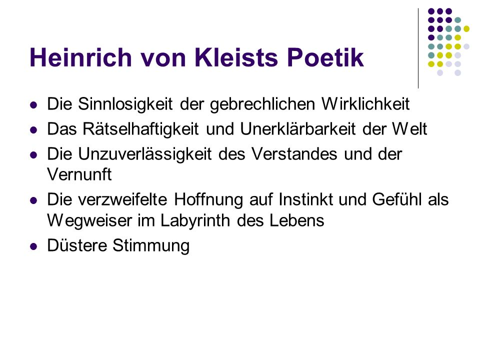 Heinrich von Kleists Poetik