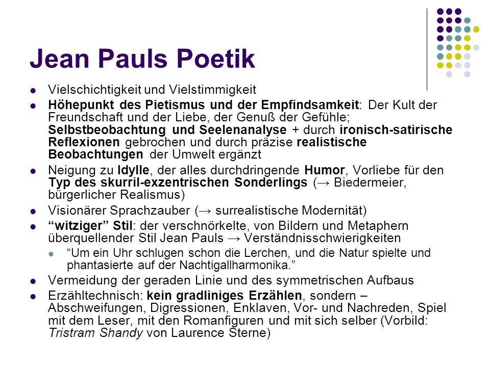 Jean Pauls Poetik Vielschichtigkeit und Vielstimmigkeit