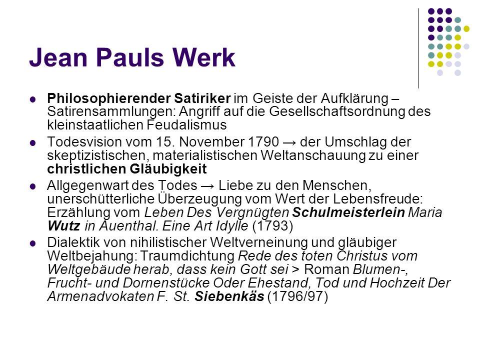 Jean Pauls Werk