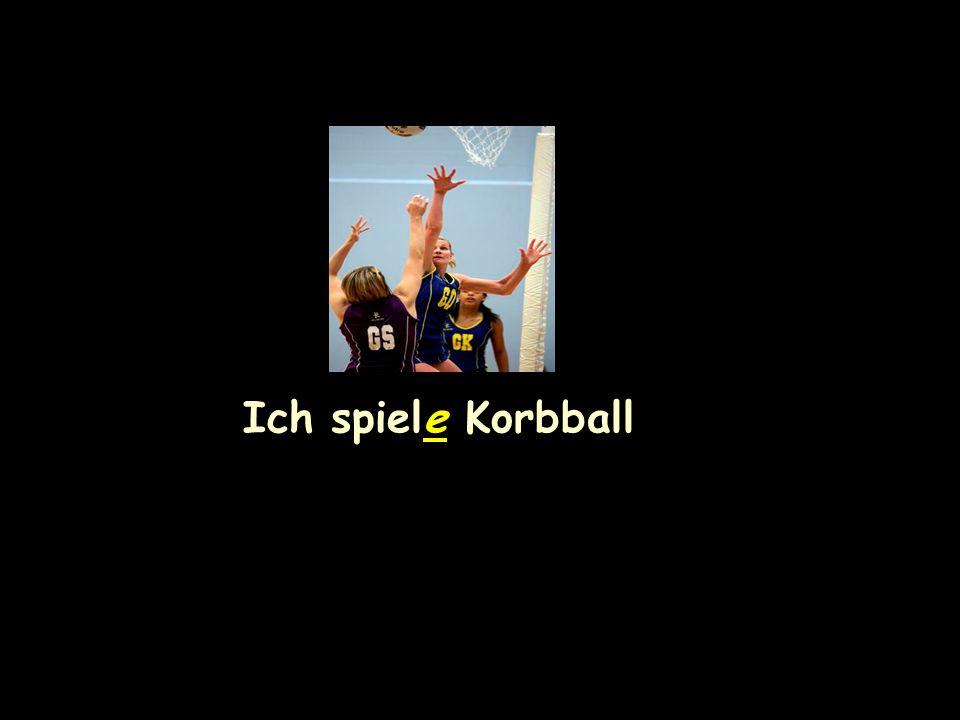 Ich spiele Korbball