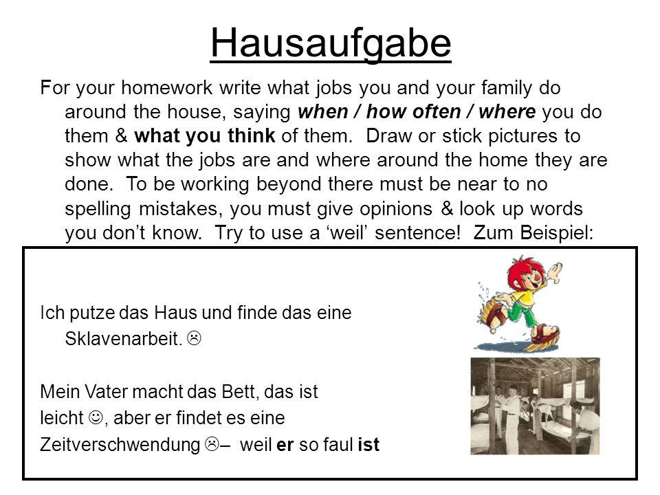 Hausaufgabe