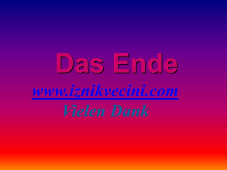 Das Ende www.iznikvecini.com Vielen Dank