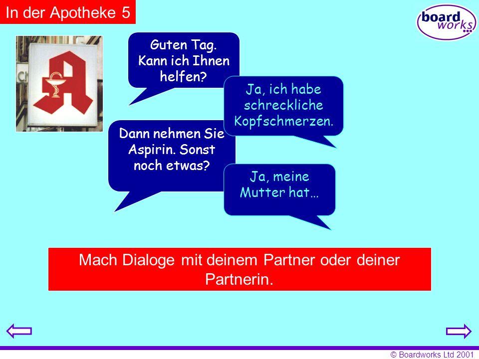 Mach Dialoge mit deinem Partner oder deiner Partnerin.