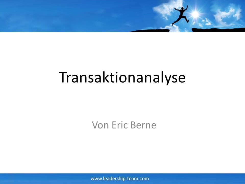 Transaktionanalyse Von Eric Berne