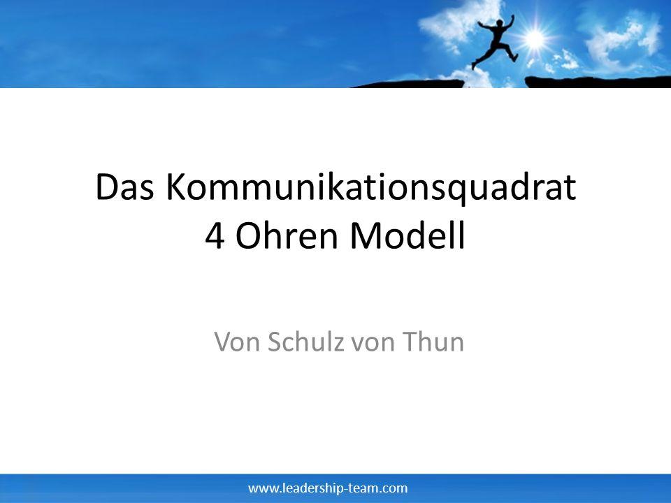 Das Kommunikationsquadrat 4 Ohren Modell