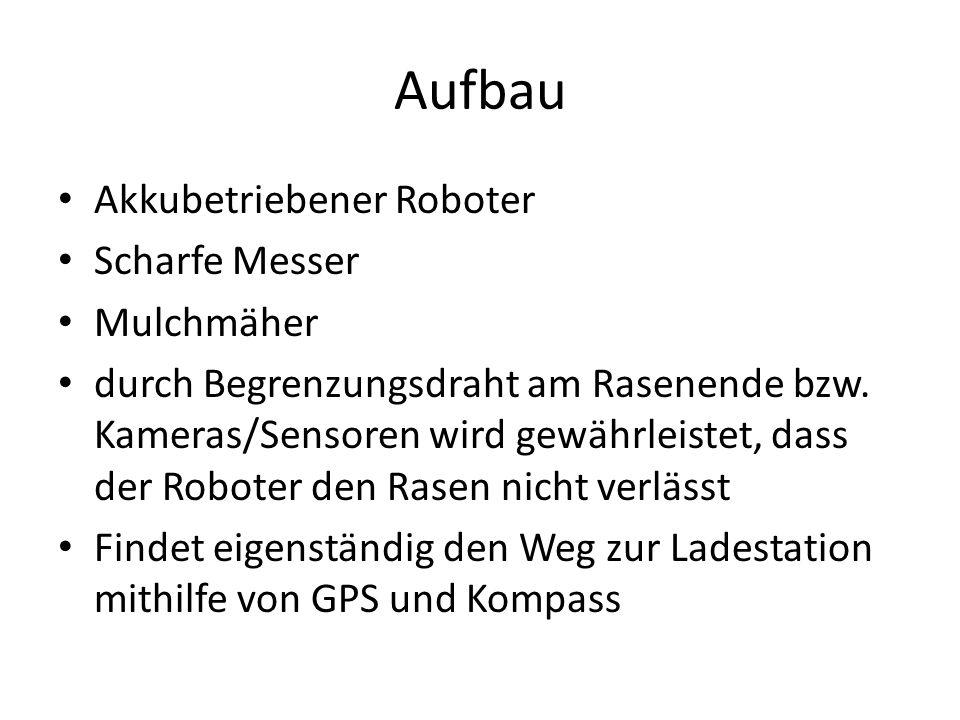 Aufbau Akkubetriebener Roboter Scharfe Messer Mulchmäher