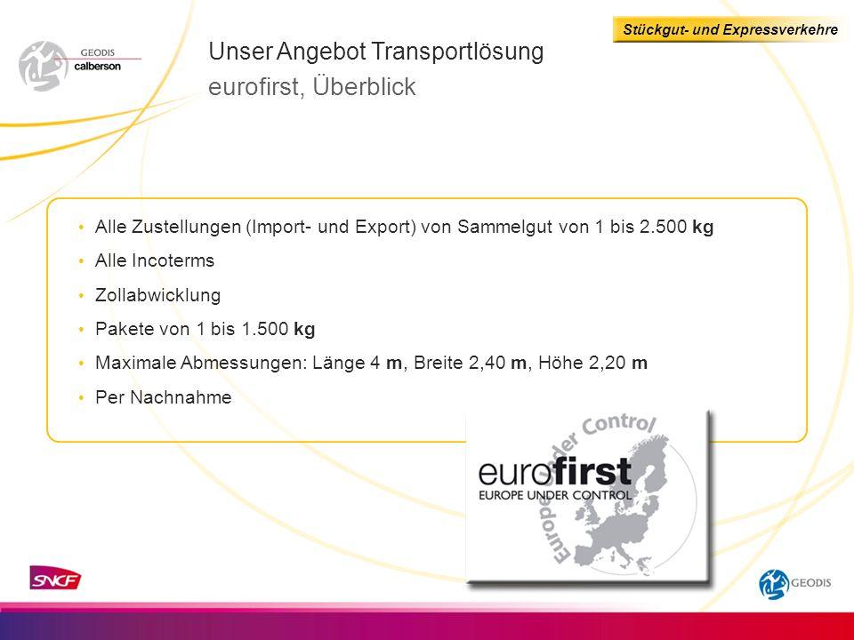 eurofirst, Überblick Unser Angebot Transportlösung