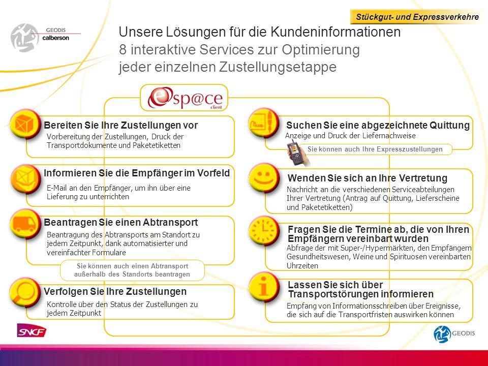 Unsere Lösungen für die Kundeninformationen