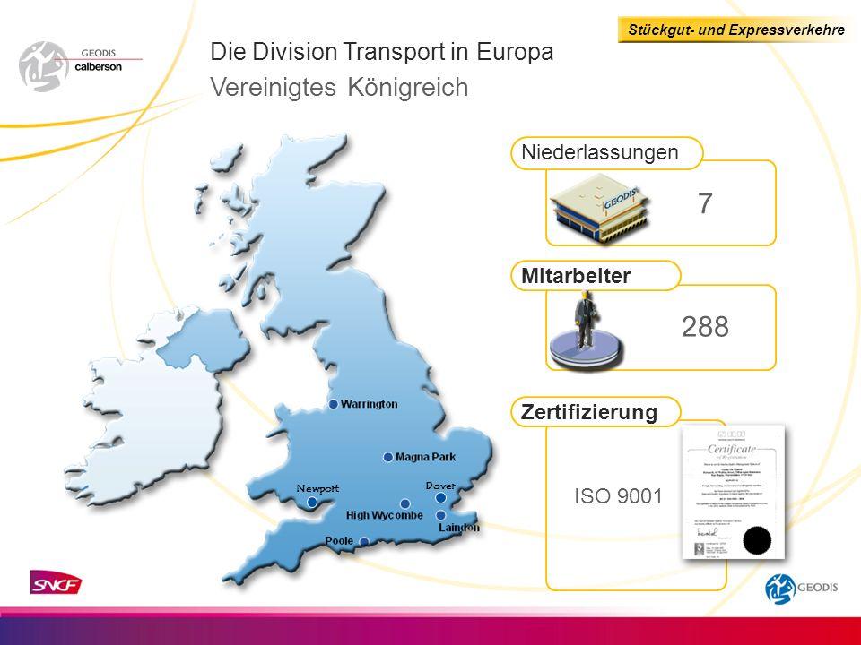 7 288 Vereinigtes Königreich Die Division Transport in Europa