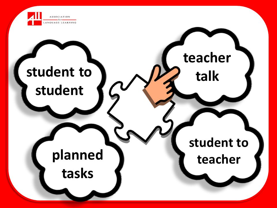 teacher talk student to student planned tasks