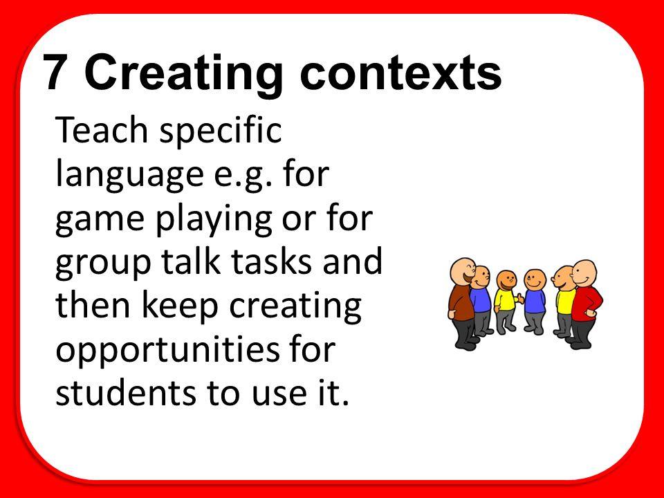7 Creating contexts