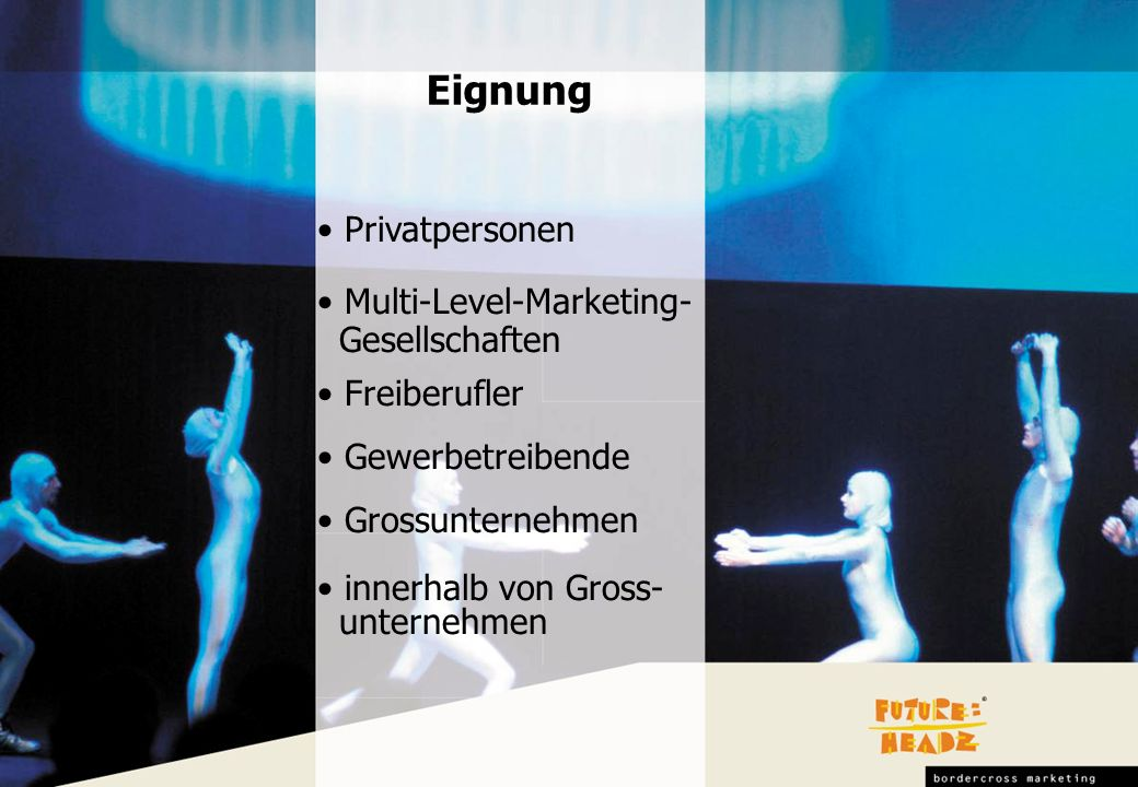 Eignung Privatpersonen Multi-Level-Marketing- Gesellschaften