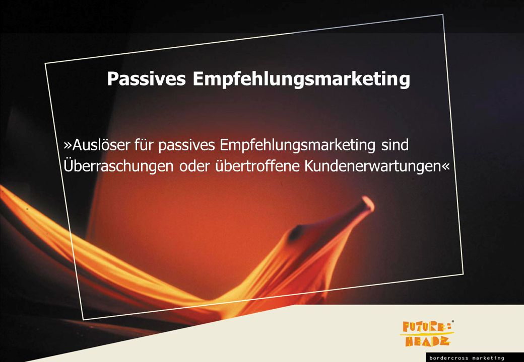 Passives Empfehlungsmarketing